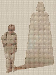 Anakin Darth Vader Shadow Cross Stitch Pattern by StitchBucket #Star_Wars