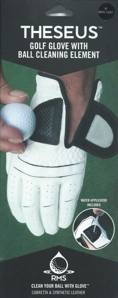 RMS Theseus Golf Glove with Ball Cleaning Element.  www.rmsgolfglove.com