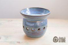 Oil Burner - Blue Essential Oil Burner - Candle Holder - Wax Melts by ThrownInStone