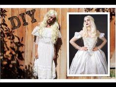 DIY White Queen (Alice in Wonderland) Costume +Makeup! -HowToByJordan