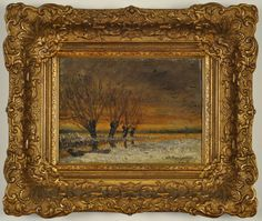 """Charles Dankmeyer, """"Autumn Flight"""" Antique Painting Oil On Canvas comes from the Ruby Lane Shop of Carlisle Gallery."""
