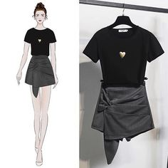 Подборка для вдохновения / Креатив / ВТОРАЯ УЛИЦА Fashion Drawing Dresses, Fashion Illustration Dresses, Fashion Dresses, Korea Fashion, Kpop Fashion, Girl Fashion, Fashion Art, Fashion Design Drawings, Fashion Sketches