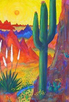 Aztec Sun Painting ~ Eli Rodriguez