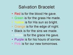 Meaning of the Salvation Bracelet