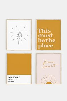 Looking for gallery wall ideas? Check out our range of gallery wall sets at Printable Zen Co today! Cool Wall Art, Diy Wall Art, Wall Prints, Bedroom Prints Wall, Wall Ideas, Dorm Ideas, Mustard Walls, Gallery Wall Bedroom, Wall Decor Quotes