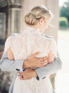 Wispy & romantic low bun: http://www.stylemepretty.com/destination-weddings/2015/09/21/romantic-munich-sunrise-wedding-inspiration/   Photography: Michael & Carina - http://michaelandcarinaphotography.com/