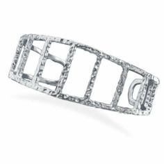 Sterling Silver Tapered Textured Cut Out Cuff Sterling Silver Collection. $148.84. Save 25%!