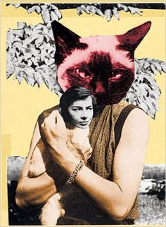 Strangers on a Train by Patricia Highsmith Ovid Metamorphoses, Like A Cat, Fantasy Illustration, Surreal Art, Collage Art, Lesbian, Halloween Face Makeup, Cats, Artist