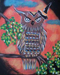 Hoot Owl at Whimsy Art Studio