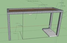 Metal Frame Glass Topped computer desk. Check out the full project http://ift.tt/2iHCbPU Don't Forget to Like Comment and Share! - http://ift.tt/1HQJd81