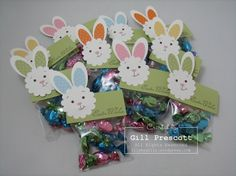 Stampin Up - Easter punch art bunnies. Could easily use a Cricut bunny! Easter Projects, Easter Crafts, Holiday Crafts, Easter Ideas, Easter Decor, Candy Crafts, Easter Candy, Punch Art, Craft Fairs