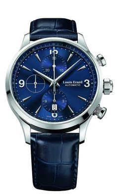Men watches : Watches best price Louis Erard Heritage Collection Swiss Automatic Blue Dial Men's Watch 78225AA05.BDC37