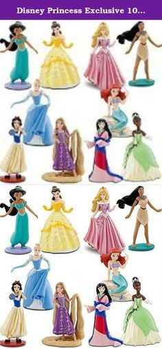 Disney Princess Exclusive 10 Piece Deluxe Figurine Set Aurora, Ariel, Jasmine, Snow White, Tiana, Cinderella, Mulan, Pocahontas, Belle Rapunzel. Shell love to create her own magical fairy tales with this Deluxe Disney Princess Figure Play Set. Featuring all of her favorite royal beauties, this set also includes the latest addition to the Disney Princess family Rapunzel.