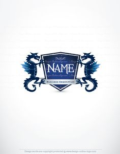 Exclusive design retro initial logo free business card logo blue dragon logo vector logo designonline logobusiness logofree business cardscreate reheart Images