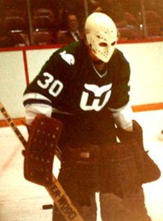 f21db219295 Ken Holland - Hartford Whalers Hartford Whalers, Goalie Mask, Hockey  Goalie, Nhl,