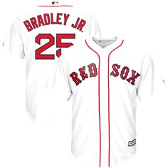 Jackie Bradley Jr. Boston Red Sox Majestic Home Official Cool Base Player Replica Jersey - White - $119.99