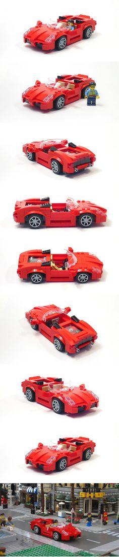 Mid Engine Sports Car Legos, Lego Cars, Lego Wheels, Geek Toys, Lego Worlds, Custom Lego, Cool Lego, Lego Brick, Toy Boxes