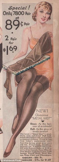 Vintage magazine pages from the Thirties reveal what lingerie advertisements looked like before the age of Victoria's Secret and Agent Provocateur. Description from dailymail.co.uk. I searched for this on bing.com/images