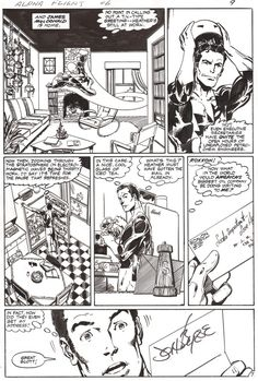 Alpha Flight #6, page 7 by John Byrne & Andy Yanchus. 1984.