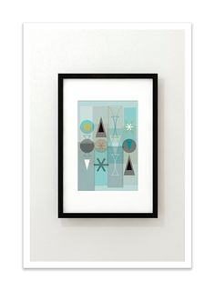 SET no.59 - Giclee Print - Mid Century Modern Danish Modern Minimalist Modernist Abstract on Etsy, $24.00