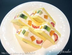 Japanese Fruit Cake Sandwich (recipe in Japanese)