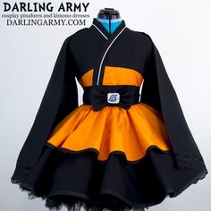 Naruto Shippiden Cosplay Kimono Dress Wa Lolita Skirt Accessory | Darling Army