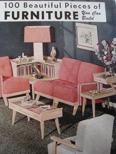 77 Best Decor ideas for 1952 Vintage Cape Cod images Mcm Furniture, Vintage Furniture, Furniture Design, Cute Living Room, Retro Living Rooms, Best Decor, Vintage Room, Mid Century Design, Office Interiors