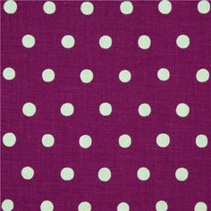purple echino canvas fabric with turquoise polka dots