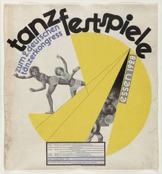 Poster by Max Burchartz for the Tanzfestspiele (Dance #Festival), 1928…