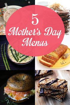 NoshOn.It {5 Mother's Day Menus with Recipes for Chocolate Lovers, Farmers Market Shoppers, Moms on the Go, and More!}