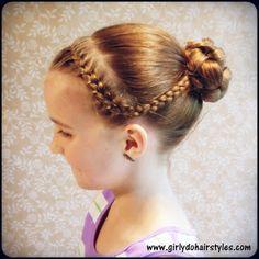 Girly Do's By Jenn: Katie's Dance: Braids and Bun Style