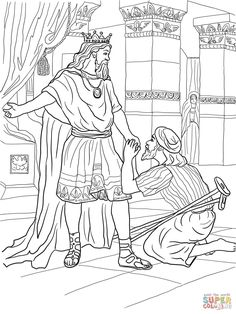 David Helps Mephibosheth Coloring Page From King Category Select 27065 Printable Crafts Of Cartoons Nature Animals Bible And Many More