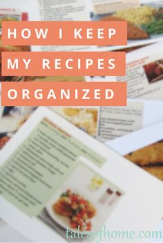 My binder system for keeping my recipes organized. It makes it so easy to plan meals! - talesofhome.com