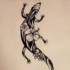 Salamander tattoo drawing by Sarah Hwang