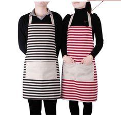 wholesale Hot-selling fashion stripe home lovers aprons sleeveless cotton canvas work wear Bib Apron, Apron Dress, Mundo Hippie, Princess Aprons, Cheap Aprons, Work Uniforms, Korean Couple, Apron Pockets, Aprons Vintage