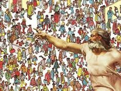 It's no fun to play Where's Waldo when you're up against the omnipotent one