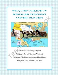 This collection of three webquests provides a comprehensive look at the expansion of the United States into the wild west. From sooners to forty-niners, your students will read and learn about the exciting time when land acquisition and population were gr