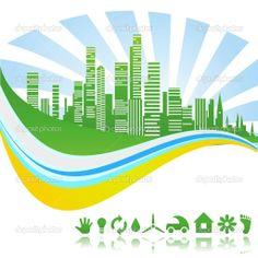 depositphotos_7653537-Ecological-green-clean-city.jpg (1023×1024)