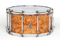 "14 x 8 BRADY Jarrah Ply snare drum (Limited Edition ""Walkabout Series"" Australian Poplar Burl gloss finish)."