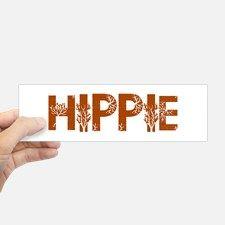 Vintage Hippie Bumper Bumper Sticker for