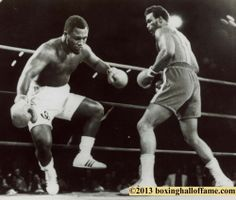 This Day in Boxing History January 22, 1973 Foreman KOs Frazier in 2. 6 Knockdowns. In one of the most talked about fights in history George Foreman stops Smokin' Joe in the 2nd round in Kingston Jamaica. Don King climbs over his fighter Joe Frazier to con his new fighter George Foreman. facebook - boxing hall of fame las vegas www.boxinghalloffame.com http://youtu.be/vOOMfWV3yak
