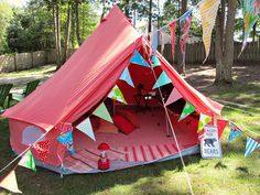 be my valentine pink tent by suburban camping co.   bridal tent, wedding tent, bachelorette party
