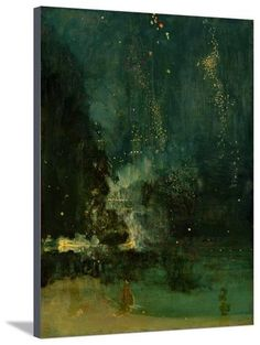 Nocturne in Black and Gold, the Falling Rocket, C.1875 (Oil on Panel) Giclee Print by James Abbott McNeill Whistler at AllPosters.com