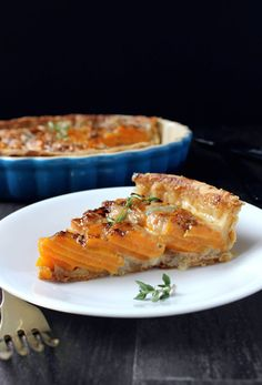 Scalloped Sweet Potato Pie w/ Gorgonzola & Drizzled Honey
