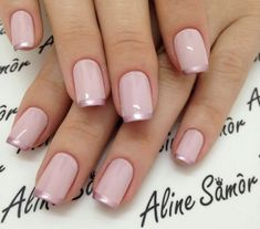 Nail art is a very popular trend these days and every woman you meet seems to have beautiful nails. It used to be that women would just go get a manicure or pedicure to get their nails trimmed and shaped with just a few coats of plain nail polish. Natural Nail Designs, Gold Nail Designs, Elegant Nail Designs, Elegant Nails, Nails Design, French Tip Nail Designs, Rose Gold Nails, Pink Nails, Gold Toe Nails