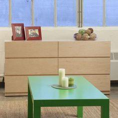 Urbangreen Urban Basics 6 Drawer Dresser Finish: Green, Wood Veneer: Painted Eco-MDF
