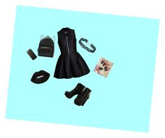 """Black"" by mihaialexiamaria on Polyvore featuring Gucci and Lime Crime"