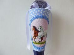 Schultüten - PFERDE Schultüte später Kissen - ein Designerstück von maximino bei DaWanda
