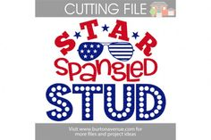 Star Spangled Stud Cut File - SVG DXF EPS AI GSD JPG PNG By Burton Avenue