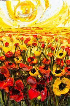 24x26 Poppy Field By: Justin Gaffrey